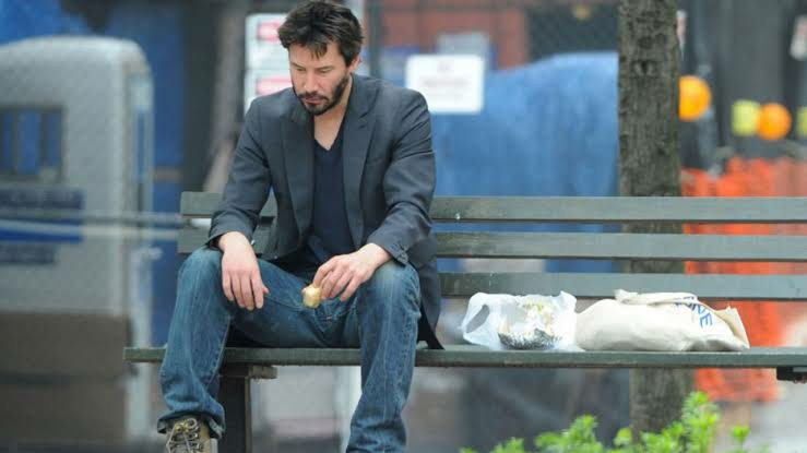 The orginal image which led to Sad Keanu meme