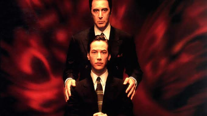 Keanu Reeves and Al Pacino in the poster of Devils Advocate
